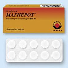Упаковка Магнерот (Magnerot)