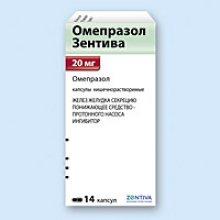 Упаковка Омепразол Зентива (Omeprazole Zentiva)